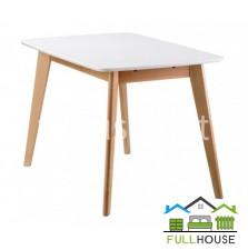 Кухонный стол Модерн 120*75  Бук / Белый не раскладной