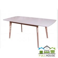 Кухонный стол Модерн 120*75  Бук / Белый  раскладной