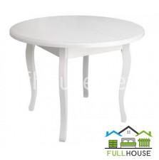 Кухонный стол Классик круглый раскладной Д100 Белый