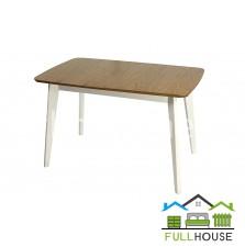 Кухонный стол Модерн 120*75  Белый/Бук не раскладной