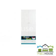 Шкаф платяной Моби  REG1D2S белый с синим