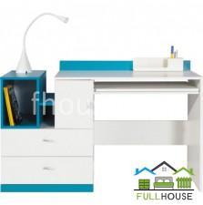 Стол письменный Моби белый с  синим